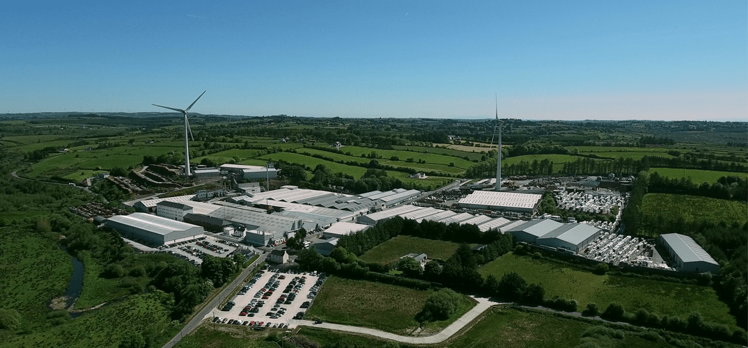 Munster Joinery Aerial View