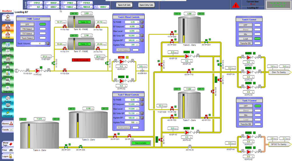 Fuel Distribution Terminals live SCADA